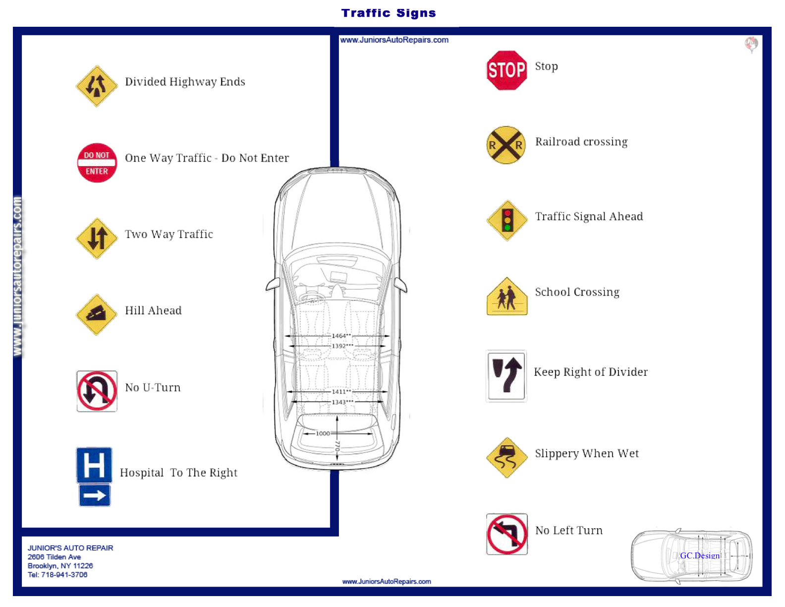 Motor vehicle signs test vehicle ideas for Motor vehicle drivers test